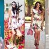 Модні сукні з квітковим малюнком: жіночні фасони і аксесуари