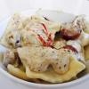 Равіолі з качкою в грибному соусі - покроковий рецепт - фото