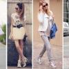 З чим носити кросівки: як поєднувати їх з сукнею, спідницею або джинсами