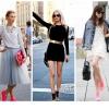 З чим носити рожеві кросівки: як підібрати до них плаття, спідницю, шорти або джинси