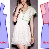 Форма сукні з суцільнокроєним рукавом на прикладі фасонів з трикотажу, прямий моделі, кімоно, для повних, для дівчинки, з рукавом реглан та три чверті